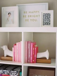Square Bookshelves {inaworldofbees}